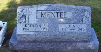 MCINTEE, KATHRYN S. - Stark County, Ohio | KATHRYN S. MCINTEE - Ohio Gravestone Photos