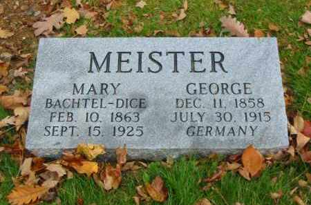 BACHTEL MEISTER, MARY - Stark County, Ohio | MARY BACHTEL MEISTER - Ohio Gravestone Photos