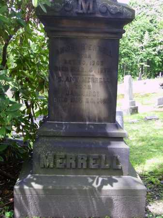 MERRELL FAMILY MONUMENT, VIEW OF LOWER SECTION - Stark County, Ohio | VIEW OF LOWER SECTION MERRELL FAMILY MONUMENT - Ohio Gravestone Photos