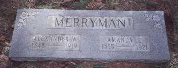 MERRYMAN, AMANDA ELIZABETH - Stark County, Ohio   AMANDA ELIZABETH MERRYMAN - Ohio Gravestone Photos