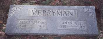 MERRYMAN, AMANDA ELIZABETH - Stark County, Ohio | AMANDA ELIZABETH MERRYMAN - Ohio Gravestone Photos