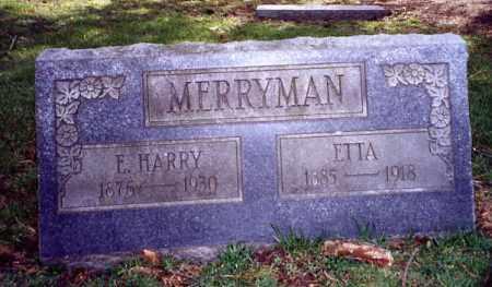 MERRYMAN, E.HARRY - Stark County, Ohio | E.HARRY MERRYMAN - Ohio Gravestone Photos