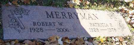 MERRYMAN, ROBERT W. - Stark County, Ohio   ROBERT W. MERRYMAN - Ohio Gravestone Photos