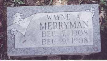 MERRYMAN, WAYNE A. - Stark County, Ohio | WAYNE A. MERRYMAN - Ohio Gravestone Photos