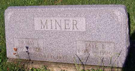 MINER, THOMAS I. - Stark County, Ohio | THOMAS I. MINER - Ohio Gravestone Photos
