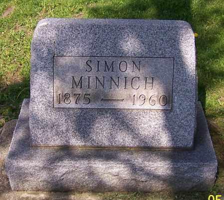 MINNICH, SIMON - Stark County, Ohio | SIMON MINNICH - Ohio Gravestone Photos