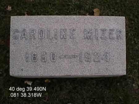 MIZER, CAROLINE - Stark County, Ohio | CAROLINE MIZER - Ohio Gravestone Photos