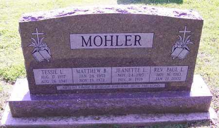 MOHLER, MATTHEW B. - Stark County, Ohio | MATTHEW B. MOHLER - Ohio Gravestone Photos