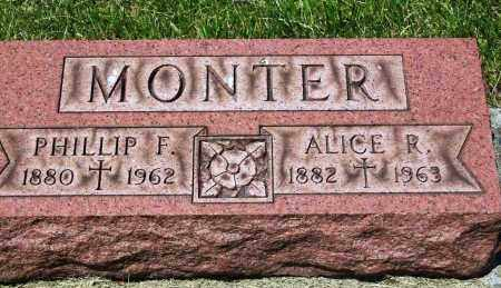 MONTER, PHILLIP F. - Stark County, Ohio | PHILLIP F. MONTER - Ohio Gravestone Photos