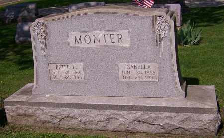 SNIDER MONTER, ISABELLA - Stark County, Ohio | ISABELLA SNIDER MONTER - Ohio Gravestone Photos