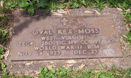 MOSS, OVAL REX   (MIL) - Stark County, Ohio | OVAL REX   (MIL) MOSS - Ohio Gravestone Photos