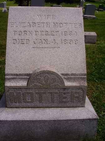 MOTTER, ELIZABETH - Stark County, Ohio | ELIZABETH MOTTER - Ohio Gravestone Photos