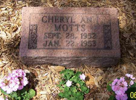 MOTTS, CHERYL ANN - Stark County, Ohio | CHERYL ANN MOTTS - Ohio Gravestone Photos