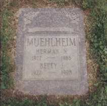 HUGHES MUEHLHEIM, BETTY - Stark County, Ohio | BETTY HUGHES MUEHLHEIM - Ohio Gravestone Photos