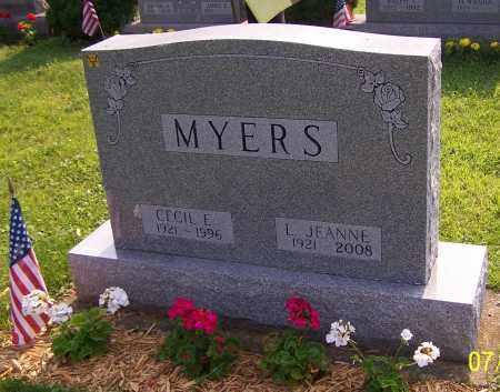 MYERS, CECIL E. - Stark County, Ohio | CECIL E. MYERS - Ohio Gravestone Photos