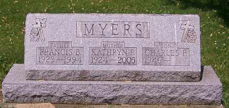 MYERS, FRANCIS B. - Stark County, Ohio | FRANCIS B. MYERS - Ohio Gravestone Photos