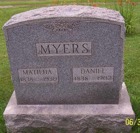 MYERS, DANIEL - Stark County, Ohio   DANIEL MYERS - Ohio Gravestone Photos
