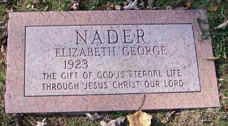 NADER, ELIZABETH GEORGE - Stark County, Ohio   ELIZABETH GEORGE NADER - Ohio Gravestone Photos