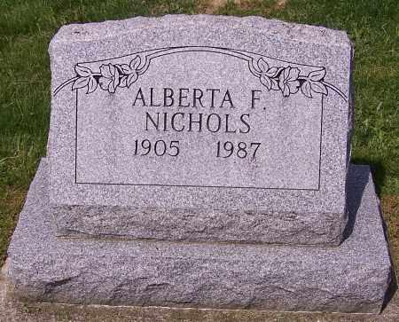 NICHOLS, ALBERTA F. - Stark County, Ohio | ALBERTA F. NICHOLS - Ohio Gravestone Photos
