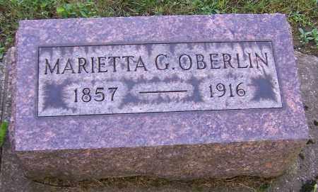 OBERLIN, MARIETTA G. - Stark County, Ohio | MARIETTA G. OBERLIN - Ohio Gravestone Photos