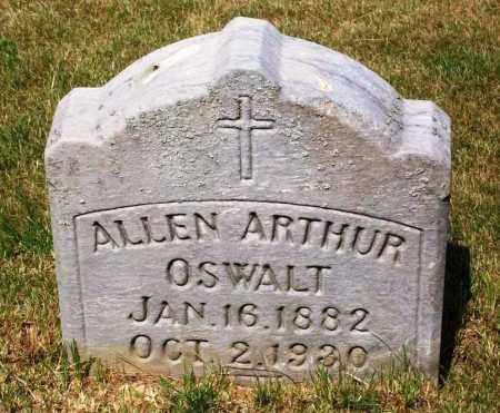 OSWALT, ALLEN ARTHUR - Stark County, Ohio   ALLEN ARTHUR OSWALT - Ohio Gravestone Photos