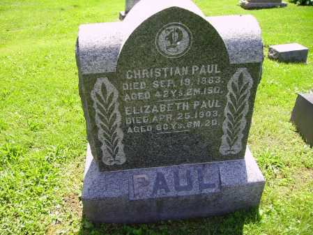 PAUL, CHRISTIAN - Stark County, Ohio | CHRISTIAN PAUL - Ohio Gravestone Photos