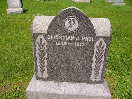 PAUL, CHRISTIAN J. - Stark County, Ohio | CHRISTIAN J. PAUL - Ohio Gravestone Photos