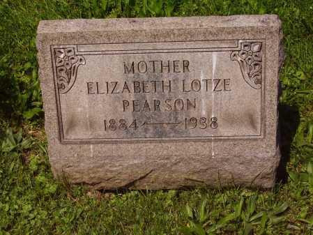 PEARSON, ELIZABETH MAY LOTZE - Stark County, Ohio   ELIZABETH MAY LOTZE PEARSON - Ohio Gravestone Photos