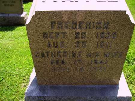 PFAFFLE, FREDERICK - FRONT VIEW - Stark County, Ohio | FREDERICK - FRONT VIEW PFAFFLE - Ohio Gravestone Photos