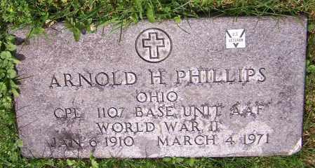 PHILLIPS, ARNOLD H.  (MIL) - Stark County, Ohio | ARNOLD H.  (MIL) PHILLIPS - Ohio Gravestone Photos