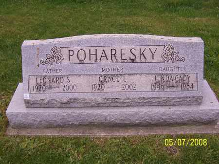 POHARESKY, LINDA CADY - Stark County, Ohio | LINDA CADY POHARESKY - Ohio Gravestone Photos
