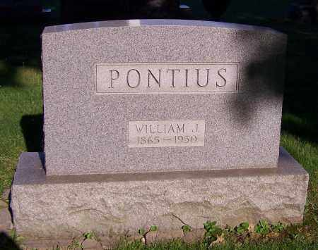 PONTIUS, WILLIAM J. - Stark County, Ohio | WILLIAM J. PONTIUS - Ohio Gravestone Photos