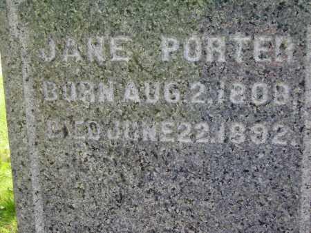 PORTER, JANE - Stark County, Ohio | JANE PORTER - Ohio Gravestone Photos