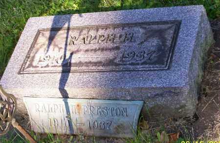 PRESTON, RALPH H. - Stark County, Ohio   RALPH H. PRESTON - Ohio Gravestone Photos