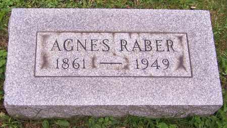 RABER, AGNES - Stark County, Ohio | AGNES RABER - Ohio Gravestone Photos