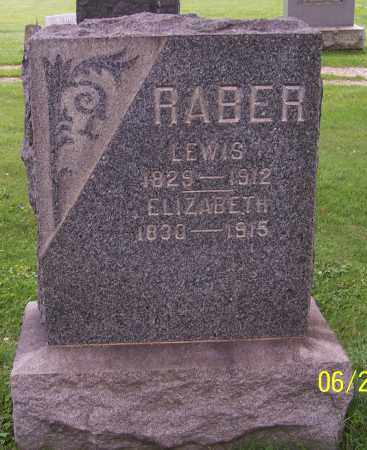 RABER, LEWIS - Stark County, Ohio | LEWIS RABER - Ohio Gravestone Photos