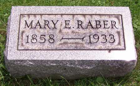 RABER, MARY E. - Stark County, Ohio | MARY E. RABER - Ohio Gravestone Photos
