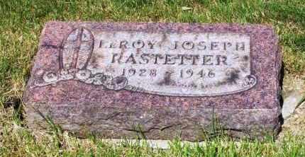 RASTETTER, LEROY JOSEPH - Stark County, Ohio | LEROY JOSEPH RASTETTER - Ohio Gravestone Photos