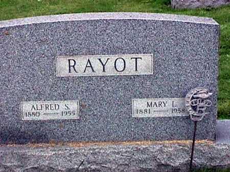 RAYOT, ALFRED S. - Stark County, Ohio   ALFRED S. RAYOT - Ohio Gravestone Photos