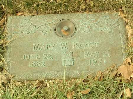 RAYOT, MARY WILLIE - Stark County, Ohio | MARY WILLIE RAYOT - Ohio Gravestone Photos