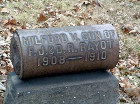 RAYOT, MILFORD VAUGHN - Stark County, Ohio | MILFORD VAUGHN RAYOT - Ohio Gravestone Photos