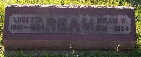 REAM, LUCETTA - Stark County, Ohio | LUCETTA REAM - Ohio Gravestone Photos
