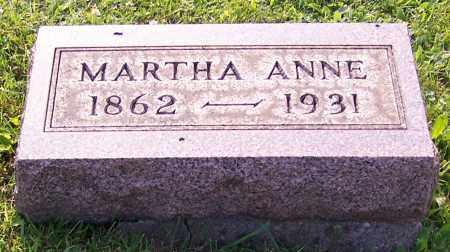 REAM, MARTHA ANNE - Stark County, Ohio   MARTHA ANNE REAM - Ohio Gravestone Photos