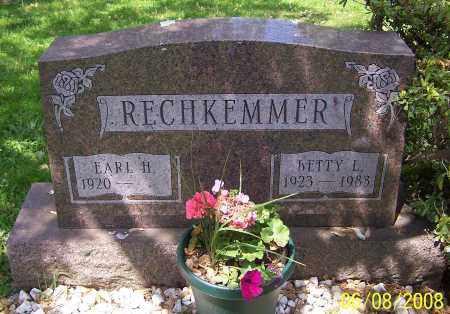 RECHKEMMER, EARL H. - Stark County, Ohio | EARL H. RECHKEMMER - Ohio Gravestone Photos