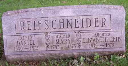 REIFSCHNEIDER, ELIZABETH LEIB - Stark County, Ohio | ELIZABETH LEIB REIFSCHNEIDER - Ohio Gravestone Photos