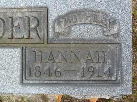 REIFSNYDER, HANNAH - Stark County, Ohio   HANNAH REIFSNYDER - Ohio Gravestone Photos