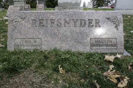 REIFSNYDER, JOHN H - Stark County, Ohio   JOHN H REIFSNYDER - Ohio Gravestone Photos