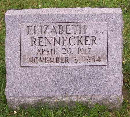 RENNECKER, ELIZABETH L. - Stark County, Ohio | ELIZABETH L. RENNECKER - Ohio Gravestone Photos
