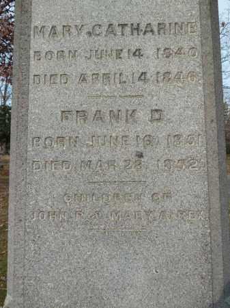 REX, MARY CATHERINE - Stark County, Ohio | MARY CATHERINE REX - Ohio Gravestone Photos