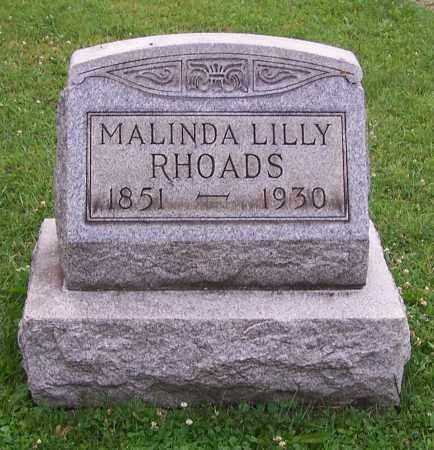 LILLY RHOADS, MALINDA LILLY - Stark County, Ohio   MALINDA LILLY LILLY RHOADS - Ohio Gravestone Photos